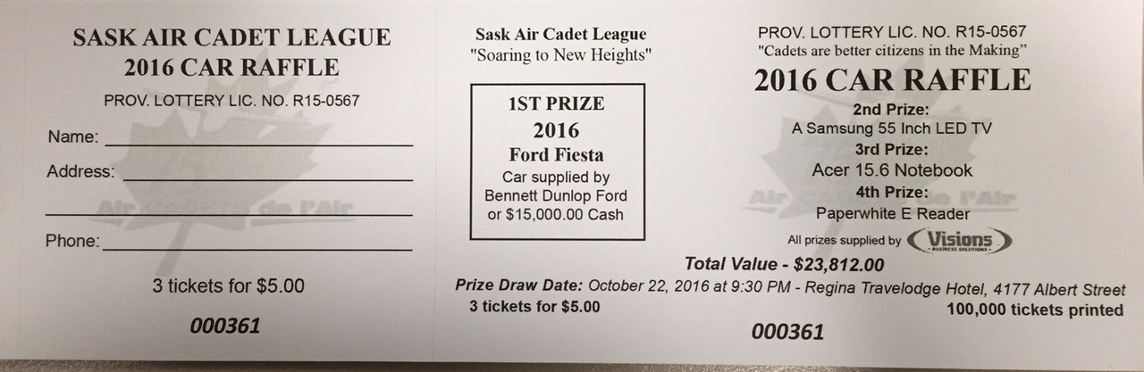 2019 Car Raffle Tickets